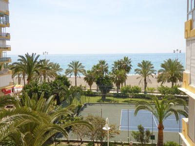 Photo for To 50 mts beach blue flag, sea views, pools, tenis, internet, A.C. easy parking
