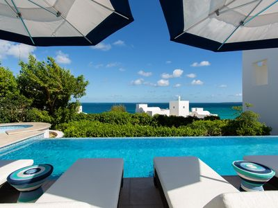 Photo for Beachfront Villa, Jacuzzi, Private Swimming Pool, Gym, Fitness centre, Tennis court, WiFi