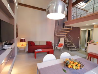 Photo for Duplex: beautiful 2 beds flat, parking, 100m from the beach