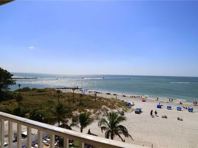 Photo for Remodeled Direct Beach Front Views at John's Pass - Private 4th Floor - Free Wifi - Beach Place 408