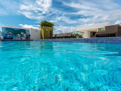 Photo for New Playa del Carmen 1 block from beach and 5th trendiest ideal location @ WIFI