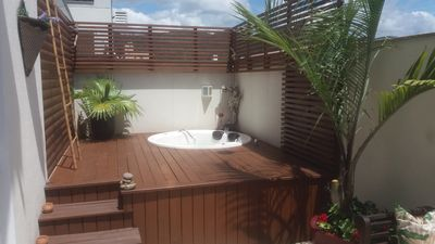 Photo for Cozy apartment w / 2 bed. terrace, deck, hydro, barbecue wi-fi 1vaga net