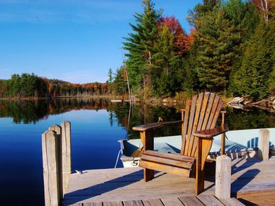 Photo for Secluded Adirondack Lakefront Retreat- Running Deer Lodge