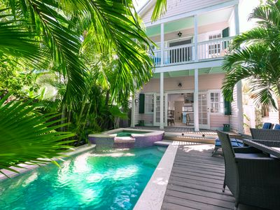 Photo for ~ THE PINK HOUSE ~ Private Pool & Parking! Walk to Restaurants, Bars, Beach!
