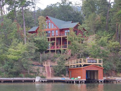 Photo for Amazing Lake Front Log Cabin