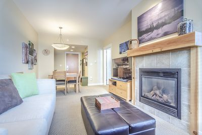 Living Area - Living Area- Gas fireplace and flat screen TV.