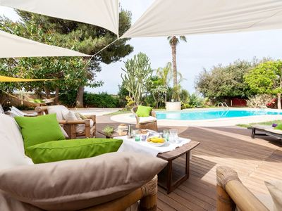 Photo for luxury villa with private pool at less than 2 km from the sea