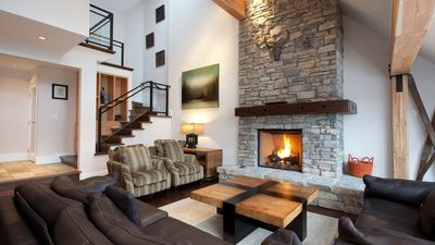 Spacious Living Area with Fireplace