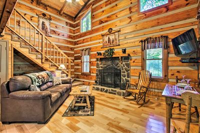 This Gatlinburg 1-bed, 1-bath cabin is truly perfect for a couple's vacation!