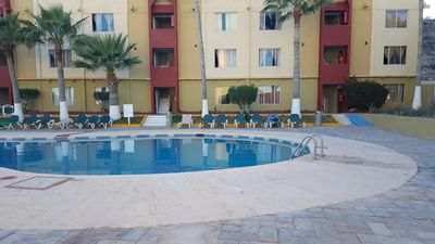 Photo for cozy 2 br apt  5 minutes from Mirador Beach walking distance with common pool ac