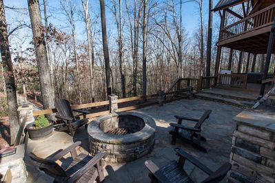 Many of our guests take advantage of our huge fire pit & outdoor living space!