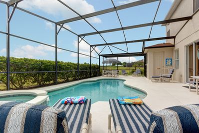 Plenty of space on the pool deck & wonderful views all around!