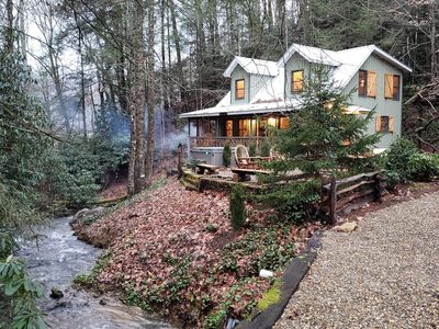 Photo for Secluded cabin with creek and falls
