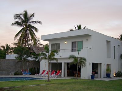 Photo for Modern Beachfront Villa With Private Pool 80 minutes north of Sayulita