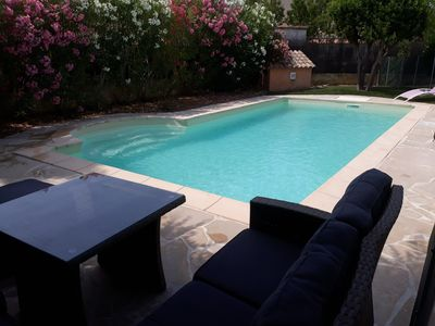 Photo for Sea and pool in Provencal village ideal family