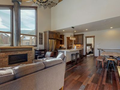 Photo for NEW LISTING! New condo, walk to dining & shopping, bus to slopes