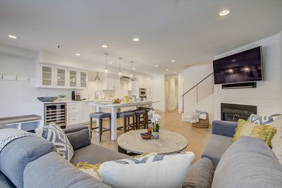 Open concept living/kitchen area is the perfect place to hang out!