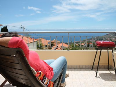 Photo for Comfortable apartment, great location, Sun and Sea View