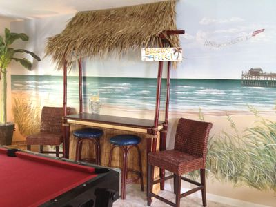 Photo for Large Family Home with Game Room, Tiki Bar & 5 minute walk to the Beach