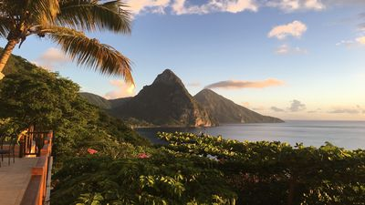 Photo for Luxury studio with breathtaking views of the pitons and sea