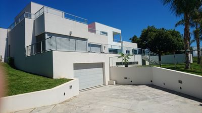 Photo for Modern architect design villa of 300 m2 with view on the sea and we park