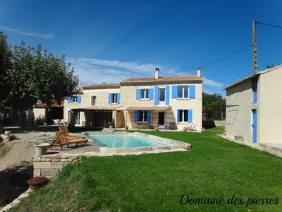 Photo for Cottage Auvent Domaine des Pierre 2 to 5 people, swimming pool, countryside, Bédoin, Ventoux, bike