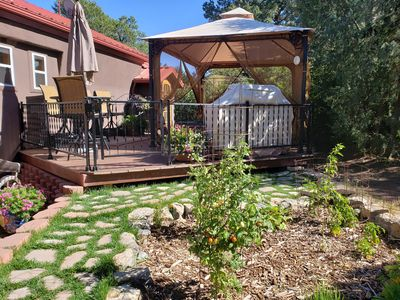 Get away to the cool mountains and relax in the hot tub or enjoy the outdoors!