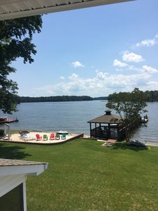 Photo for Beautiful Lakefront Home With Sandy Beach And Large Dock