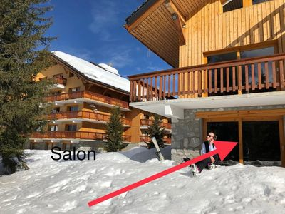 Photo for Superb apartment at the foot of the slopes in Méribel Altiport in the 3 Valleys