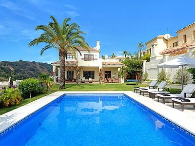 Photo for Villa With Private Infinity Pool, Sea Views, Front Line Golf, Overlooks 9th Hole