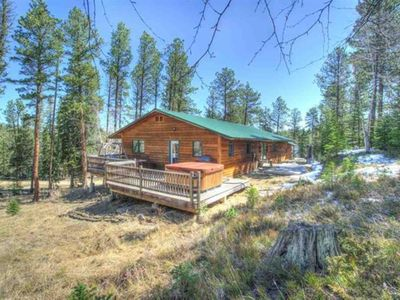 Photo for Cozy 3 Bedroom, 2 Bathroom Black Hills Cabin with Hot Tub