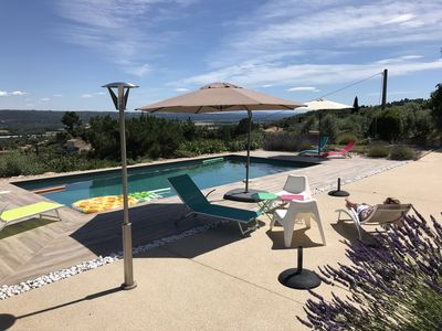 Photo for 3-star luxury villa in Luberon Provence - heated pool and panoramic view