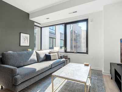 Photo for Modern NoMa 1BR w/ Gym, Rooftop, walk to Metro & Shops, by Blueground
