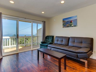 Photo for Cozy, quaint condo w/ ocean views & easy beach access - dogs ok!