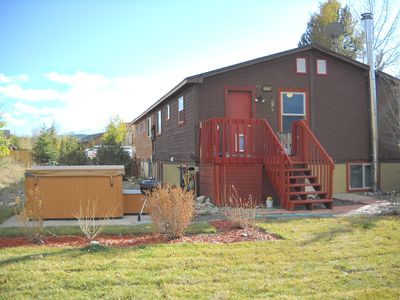 Photo for Two bedroom with new hot tub, yard, and close to rec center