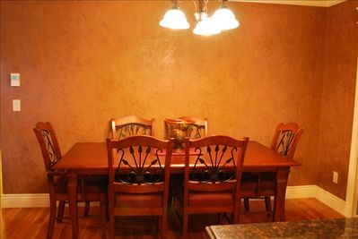 Dining Area for Six with Cherry wood Table