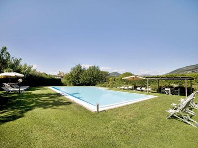 Photo for 10 bedroom Villa, sleeps 20 with Pool, Air Con, FREE WiFi and Walk to Shops