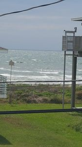 It's a boogie boarding day (taken from the front deck)