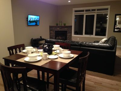 Comfortable open dining and living areas
