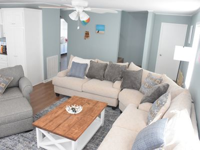 Photo for Flip Flop Inn! 3BR, Pet Friendly, Sleeps 9, Steps From The Sand, New Beds!