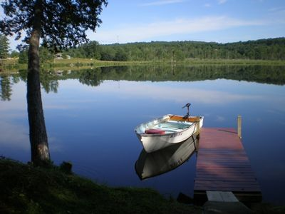 Photo for Waterfront Cabin on Quiet Fishing Lake.