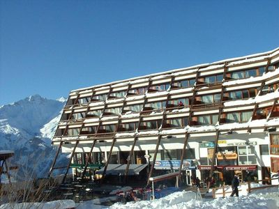 Photo for 100m from resort center, 4th floor, view mountain, balcony, tv, 30m², Les Arcs