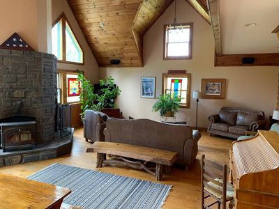 Photo for Big Hollow Log Cabin is just 4.5 miles from Windham Mountain Resort.