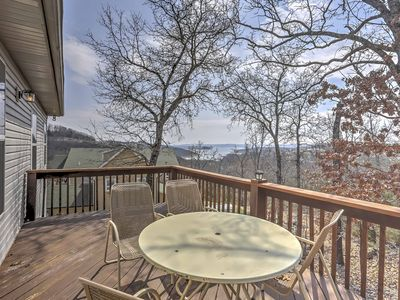 Photo for Cozy Home-Fireplace, Deck & Table Rock Lake Views!