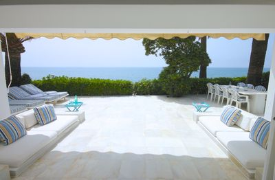terrace with direct seaviews