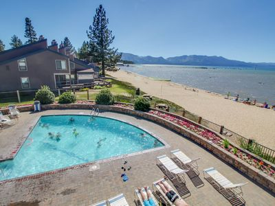 Photo for Condo w/ shared pool/hot tub, full kitchen, and access to a private beach