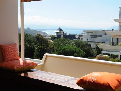 Photo for Beautiful apartment, terrace with sea and mountain views, all on foot, with garage