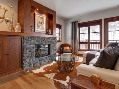Photo for BEST SKI IN-OUT in Tremblant!  Cottage CHIC on 2 levels, quiet, hardwood floors