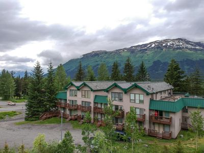 Photo for Girdwood Slopeside Condo with Roof Top Balcony! Direct Mt Views All levels