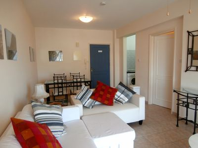 Photo for 1 Bed Apartment, Paphos, 2nd Floor, Communal Pool, Sea Views, Nearby tavernas